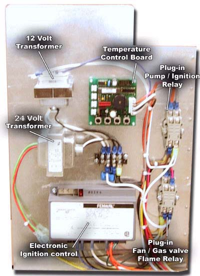 Control panel of water booster heater